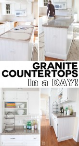 If you like the look of granite, but not the cost and or time it takes to install it, check out this post to see how granite, quartz, or glass countertops can be installed with little or no kitchen downtime. | In My Own Style