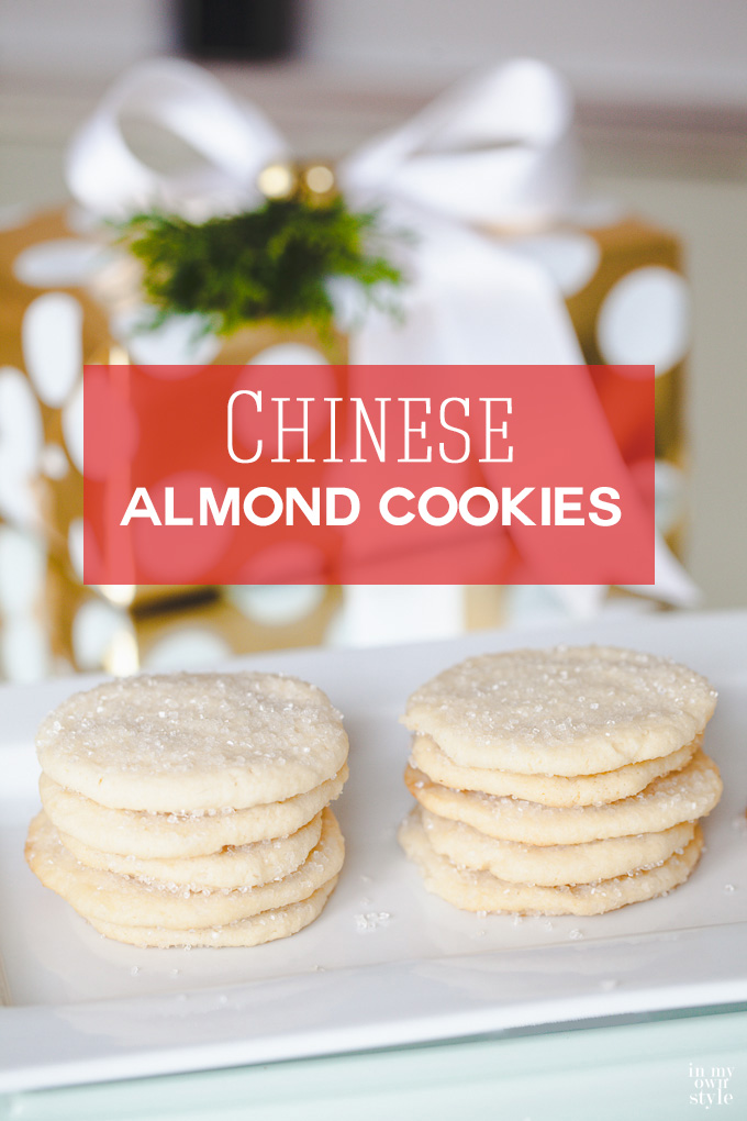 Chinese Almond Cookie Recipe . These are not only delish, but so easy to make. Better make a double batch because once they are made... they will be consumed fast. They also make a great hostess gift when place in a pretty box tied with a ribbon. | In My Own Style