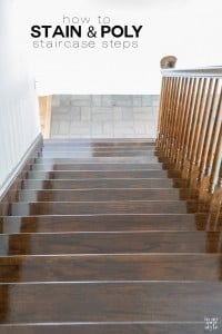 How to stain and polyurethane steps on a staircase | In My Own Style