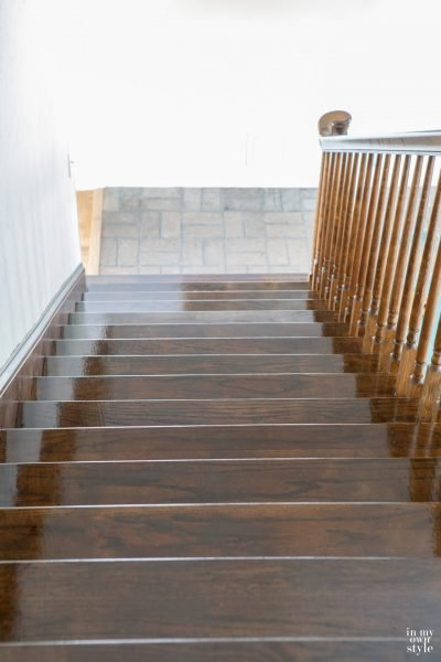 Staining Staircase Steps