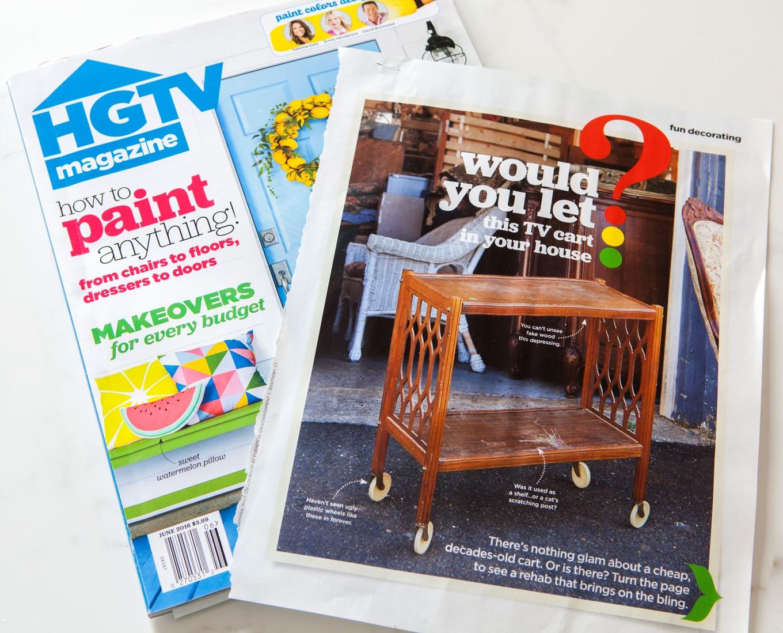 HGTV magazine furniture makeover