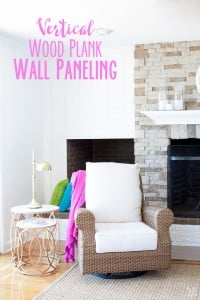 Instead of horizontal shiplap planks, why not install the planks vertically especially if you want the room to appear taller. East budget DIY decorating . Tip: Get the planks cut at the home improvement store to save you time.   In My Own Style