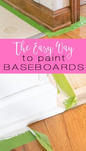 Home improvement painting tip. Learn the easy and fast way to paint baseboards and all the molding in your home.