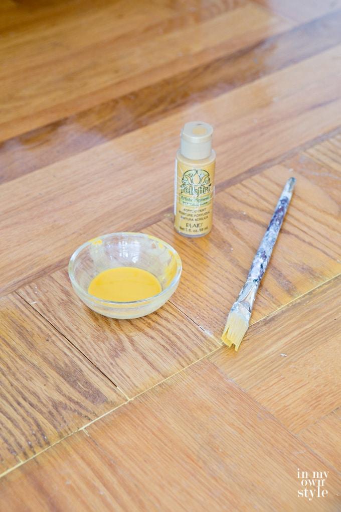 How to fix a hardwood floor