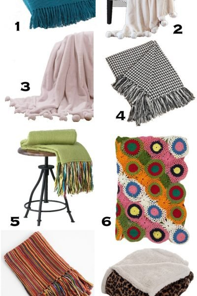 Fall decorating ideas using throw blankets. 10 Cozy Throw Blankets to Snuggle Under for Fall