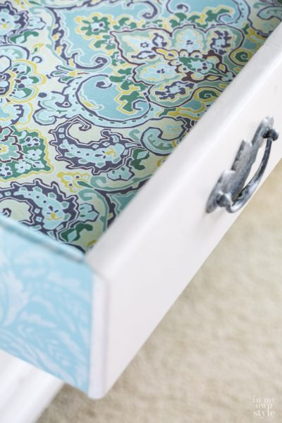 Colorful Dresser Drawer Makeover