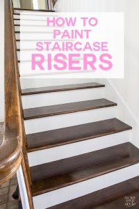 Home improvement project on a budget. How to paint a staircase.