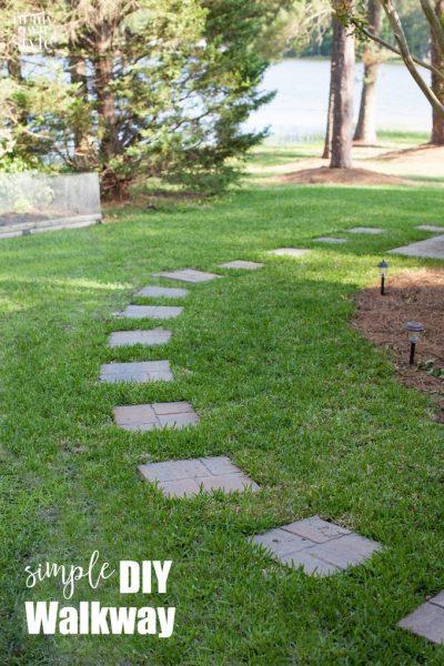 Simple Paver Stone Walkway