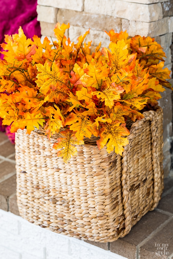 Budget decorating tips and ideas for fall and autumn.
