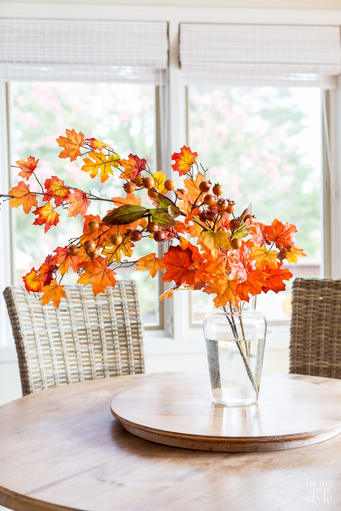 Nature crafts to make to decorate your home for autumn