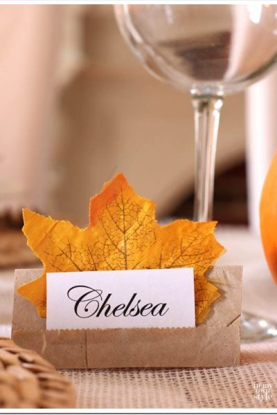 Fall Place Card Holders For Any Occasion