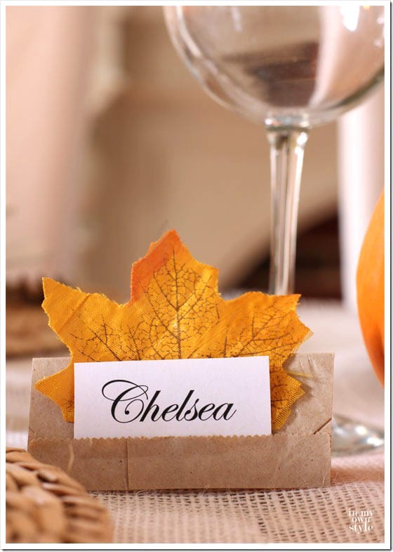 Quick and easy place cards for table setitngs