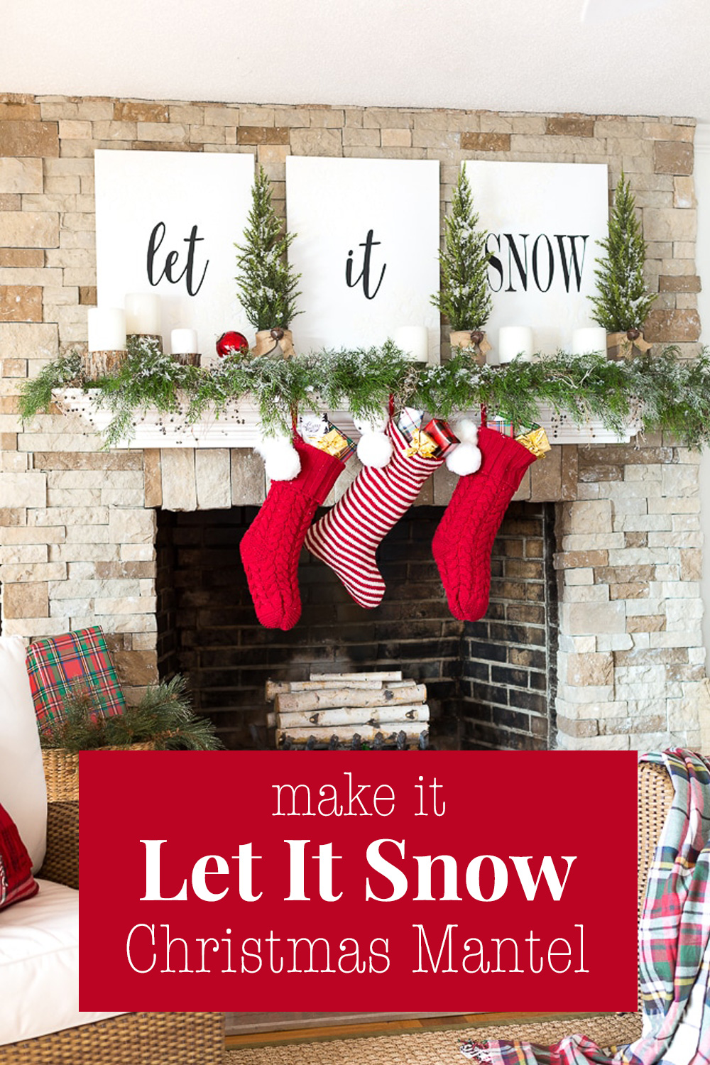 Christmas Mantel Decorating: Let It Snow | In My Own Style