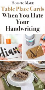 How to make table place cards and more printed items when you hate your handwriting