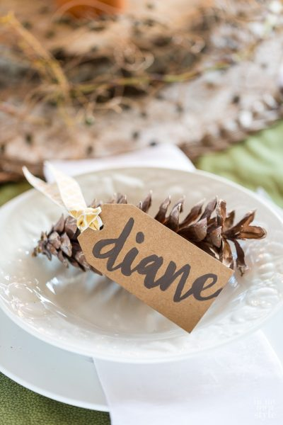 DIY table place cards