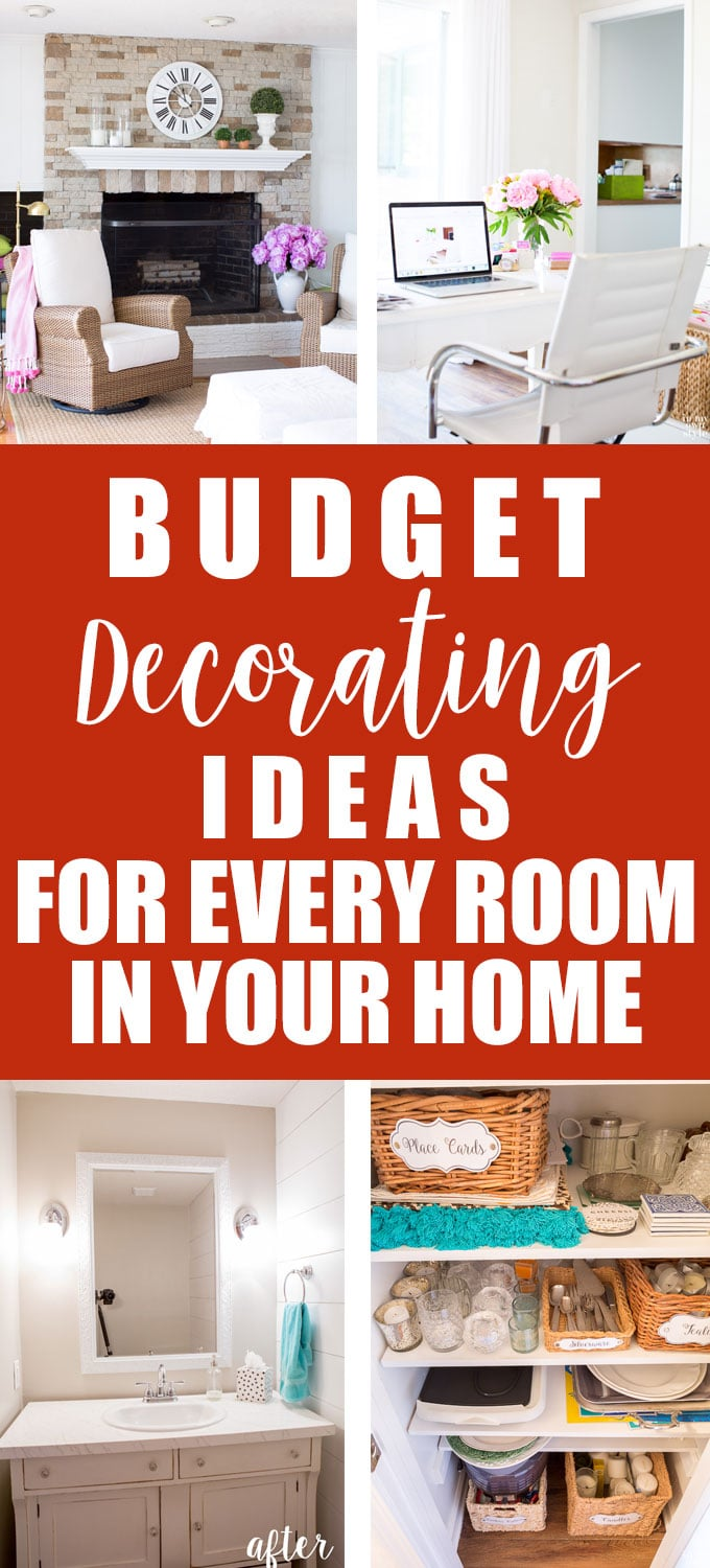 Budget decorating ideas for every room in a house. DIY budget decor.