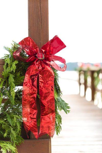 Outdoor Christmas Decorating on the Gazebo