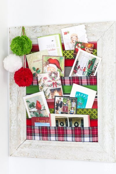 Christmas Card Holder You Can Make Tonight