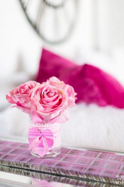 Valentine Flower Vase Trio Tray
