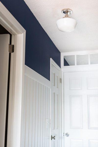 Dark Hallway Makeover Reveal