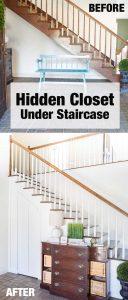 How to create a hidden closet under a staircase as well as a hidden door.
