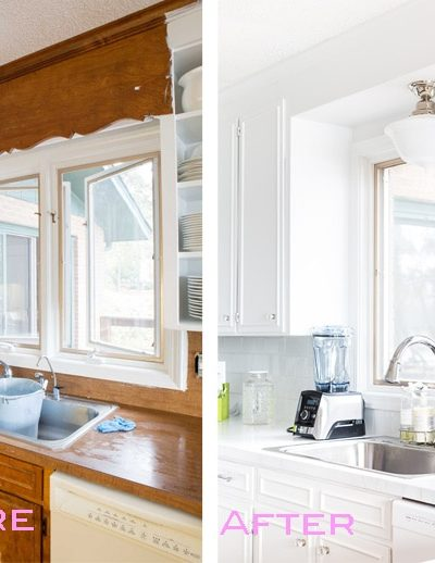 Removing the Scalloped Wood Valance Over the Kitchen Sink