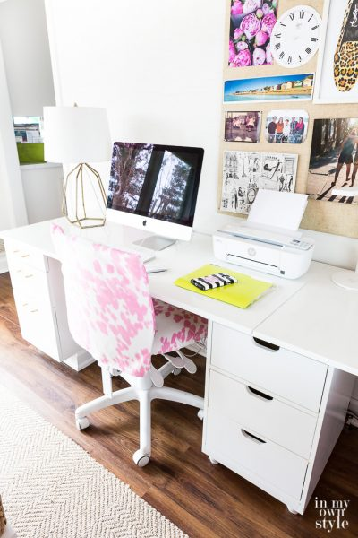 Craft Room Work Table Using File Cabinets