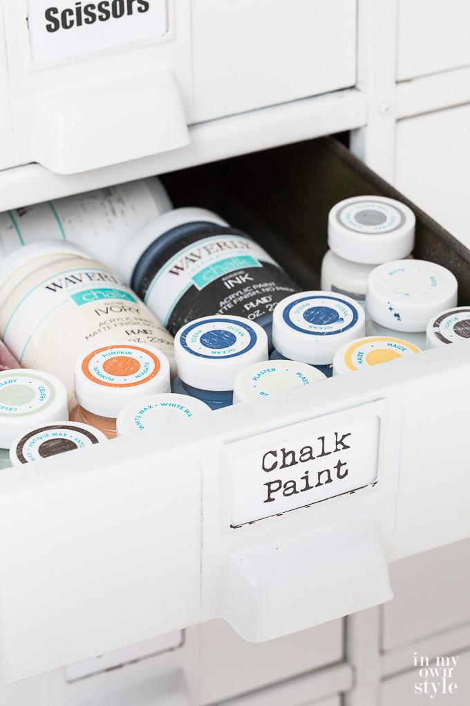 Waverly Chalk paints storage ideas