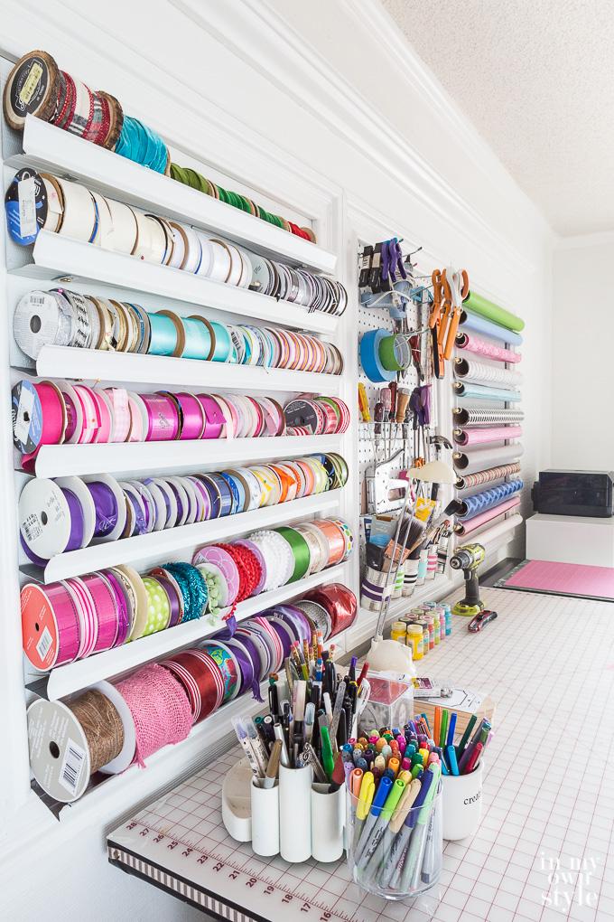 Craft room supply storage and organizing ideas