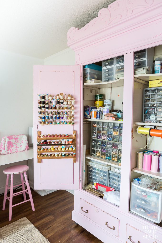 bloggers craft room tour and dream craft rooms