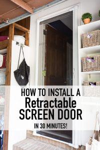 How to install a Brisa Retractable Screen door in 30 minutes. DIY home improvement projects. Screen door options for exterior doors.