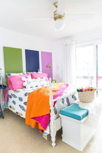 Colorful Guest Bedroom Makeover on a Budget