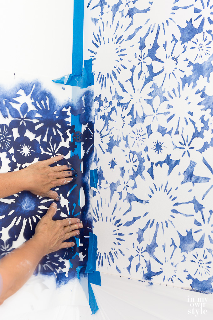 How to stencil a wall using a Royal Designs Studio stencil