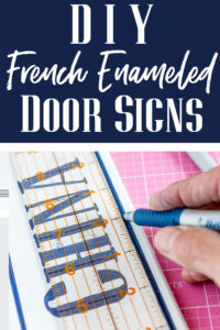 French Enamel door signs to make with any name or word you want.