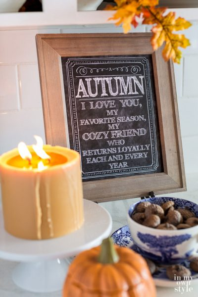Free Printable for Autumn Home Decorating