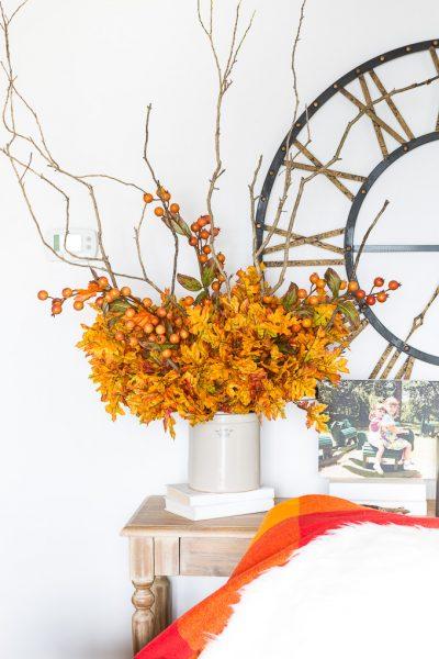 Easy Fall Flower Arrangement