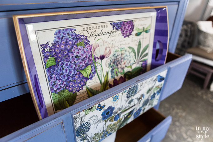 Chalk painted Purple dresser