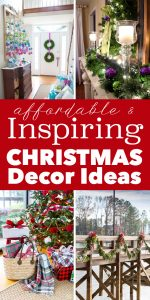Easy and affordable Christmas decorating ideas that anyone can do.