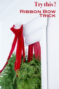 How to give a limp ribbon bow fullness. #RibbonBow #Christmastips