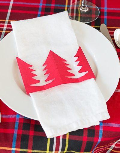Christmas Tree Napkin Ring DIY