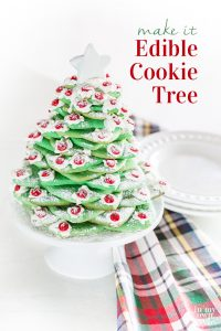 Christmas Cookie tree on counter