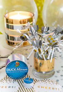 New Years' Eve Decorating and entertaining idea using duck tape and a candle holder