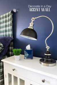 How-to-paint-a bold color-accent-wall-in-an-afternoon
