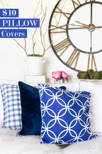 How to make inexpensive pillows and pillow covers.