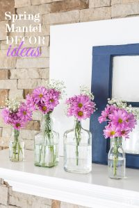 Spring-Mantel-using-repurposed-and-recycled-items.