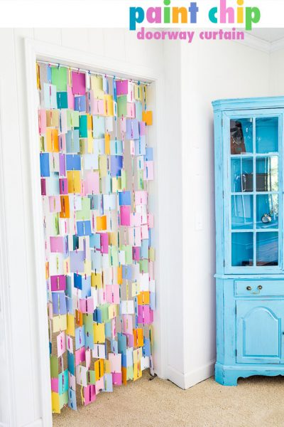 Paint Chip DIY Doorway or Window Curtain