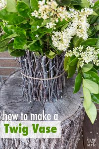 How to make a rustic vase out of twigs