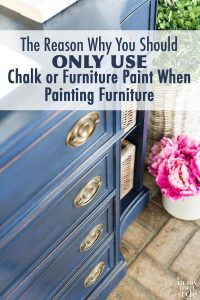 Blue chalk painted sideboard