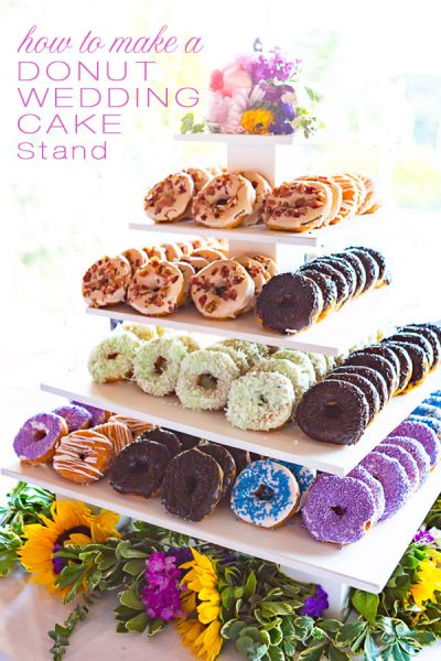 How to Make a Tiered Donut Wedding Cake Stand