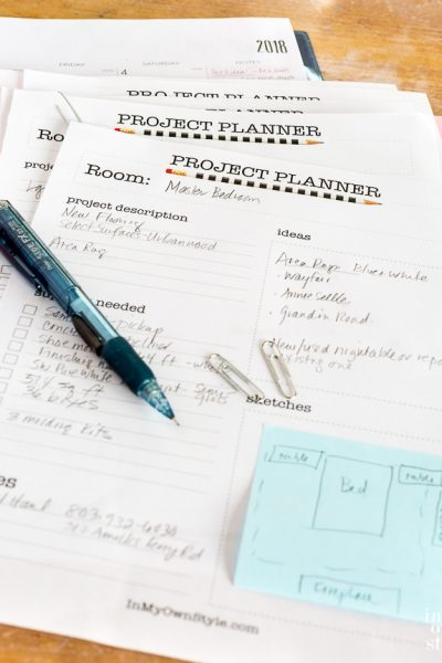 My DIY Decorating Project Planner